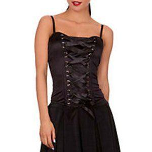 Spirit Halloween Front Lace-Up Corset Black
